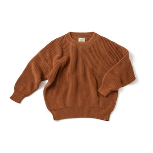 Caramel Boxy Knit Sweater