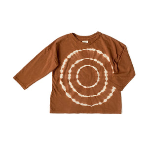 Circles Tie Dye Long Sleeve Top