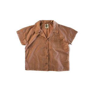 Copper Boxy Button Up