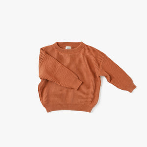 Copper Boxy Knit Sweater