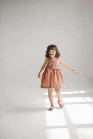 Copper Dress and Bloomers