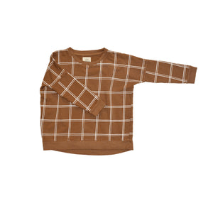 Double Grid Boxy Sweater