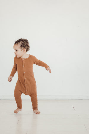 Copper Thermal Romper