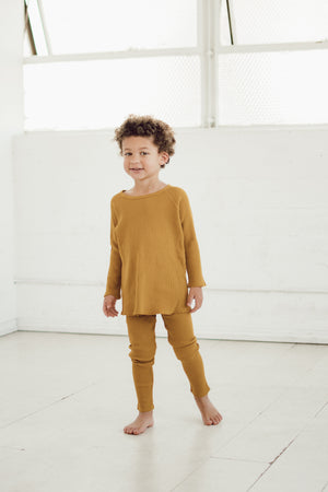 Mustard Thermal Top