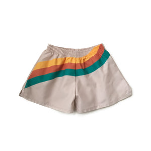 Wavy Stripe Swim Trunks