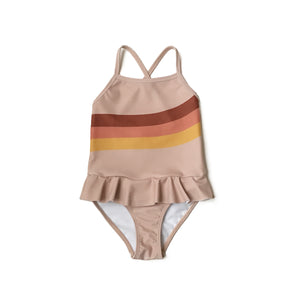 Wavy Stripe Swimsuit