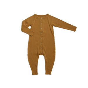 Curry Ribbed Romper