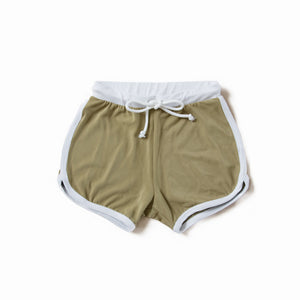 Olive Swim Trunks