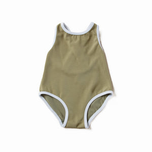 Olive Crossback Swimsuit