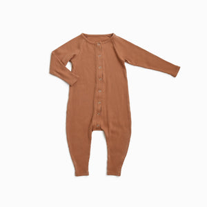 Copper Ribbed Romper