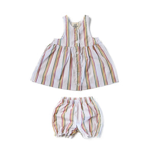 Rainbow Stripe Dress and Bloomers