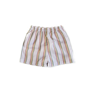 Rainbow Stripe Cuban Shorts