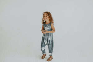 Indigo Wash Bubble Romper