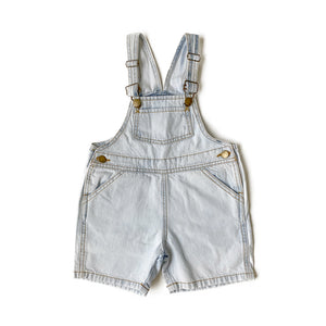 Light Wash Shortalls