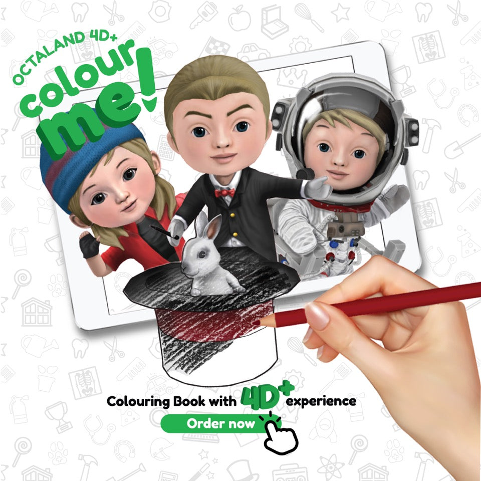 What's Inside Octaland 4D Color Me Book