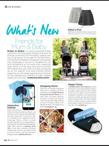 Curiosity Wear 4D Tshirt feature at Expat Living Magazine