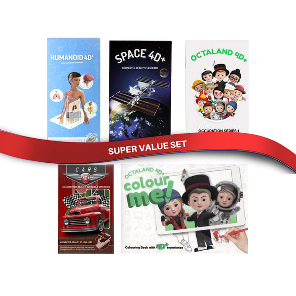 Super Value Bundle - 4D Flashcards and 4D Coloring Book