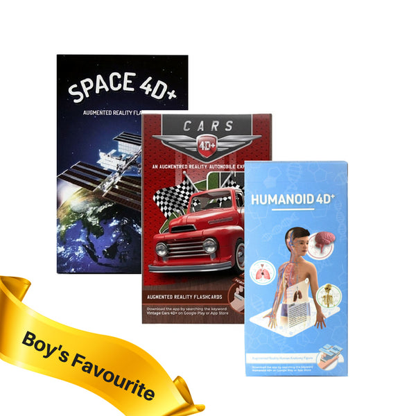 Boy's Favourite 4D Flashcards Collection