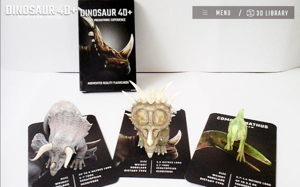 Dinosaur 4D Flashcards - DIY Flashcards & Edutoys Singapore