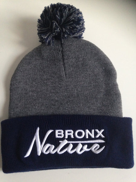 Bronx Native Beanie Navy White - The Bronx Brand Skully Bronx Clothing From The Bronx Bronx Native Hip Hop