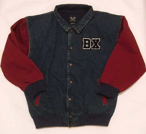 The Bronx Denim Jacket Varsity Jacket Two Tone Denim BX Bronx Clothing From The Bronx Bronx Native The Get Down