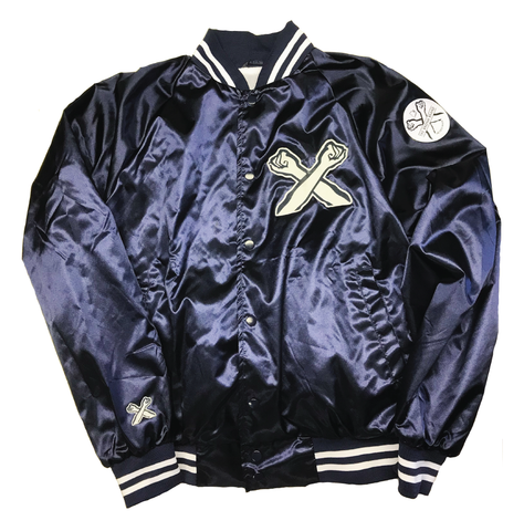 The X Satin Baseball Jacket