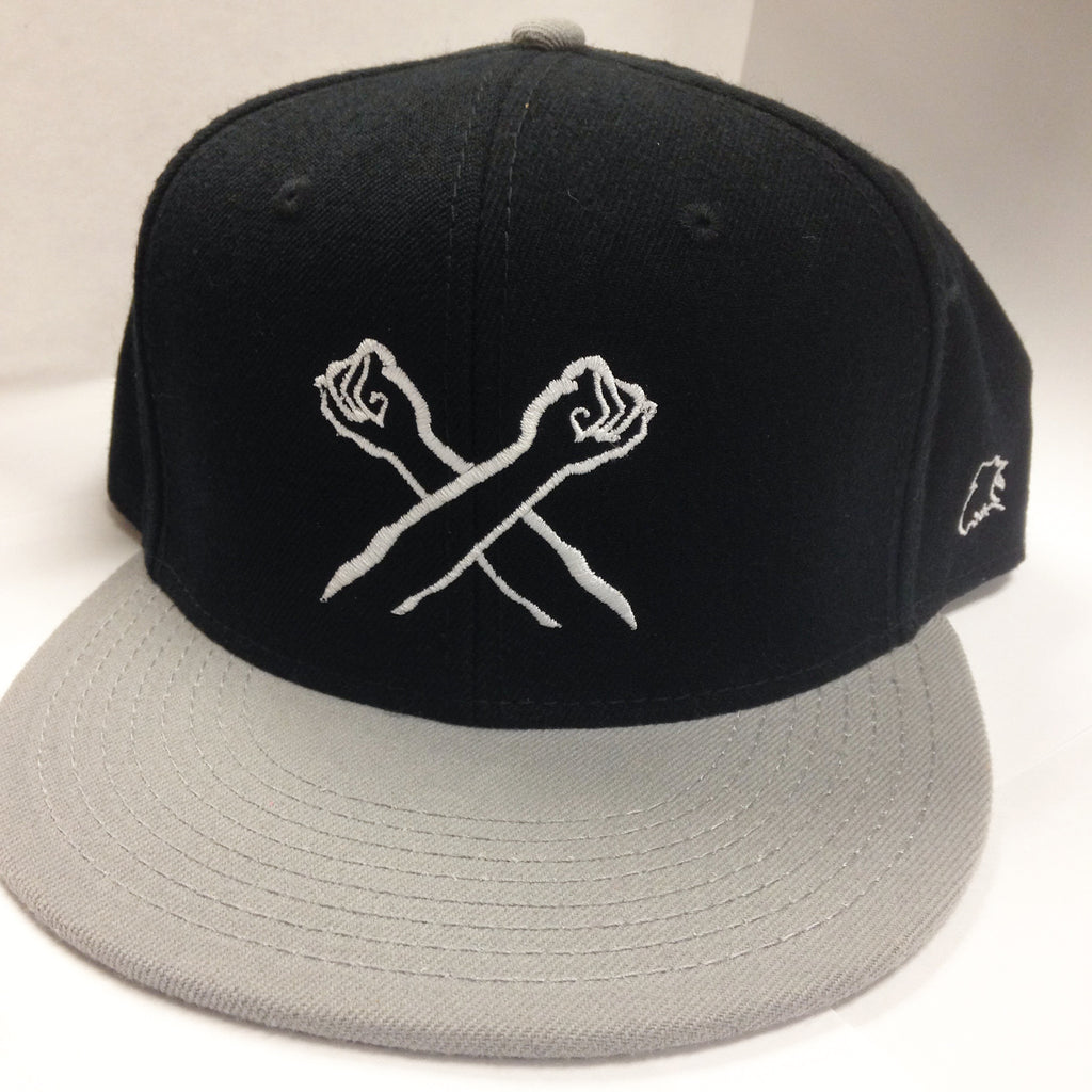 The X Snapback Grey/Navy/White | The Bronx Brand