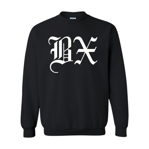 BX Old English Sweatshirt White/Black - The Bronx Brand - Sweatshirt - The Bronx Brand