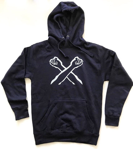 The Bronx Hoodie, Bronx Native, The Bronx Brand, X Hoodie, Hoody, From the Bronx, Navy And Silver Hoodie