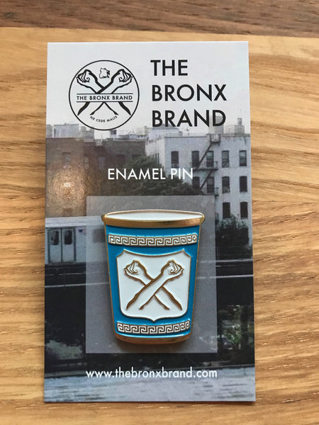 NYC Coffee Cup Pin The Bronx Brand - pin Bronx Clothing From The Bronx Bronx Native Hip Hop