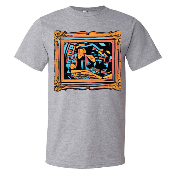 Pizza Art Short sleeve t-shirt - The Bronx Brand -  - Johnny Cage aka Death Quest Bronx Art BX Bronx Clothing From The Bronx Bronx Native The Get Down Hip Hop
