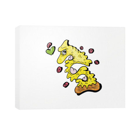Pizza Monster Horizontal Canvas