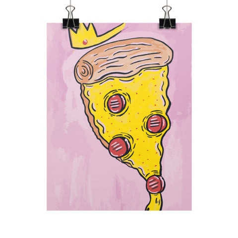 Pizza Queen Vertical Fine Art Prints (Posters) - The Bronx Brand - Poster - Johnny Cage aka Death Quest BX Bronx Clothing From The Bronx Bronx Native The Get Down