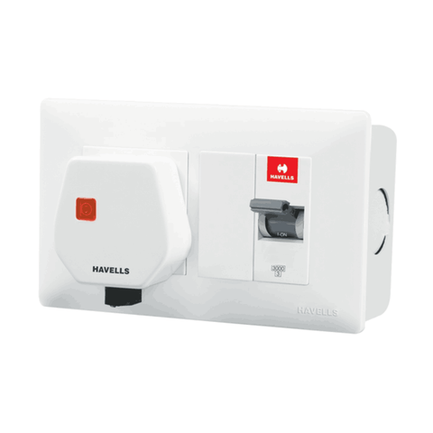 Havells DBOXx MCB Protected Socket With Plastic Enclosure (for surface mounting)