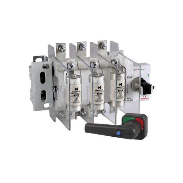 Havells Kompact Plus Switch Disconnector Fuse Unit With 3 Fuse, 3 Pole & Neutral OE  32A – 125A