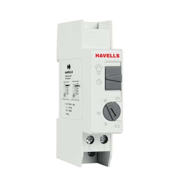 Havells Staircase Light Time Switch (0.5-20 Min) DHTCNX5016