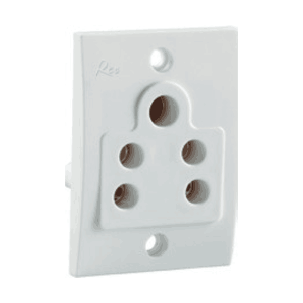 Havells Reo 6A 2 IN 1 Socket W/O Shutter-5 Pin - AHEKPOW063