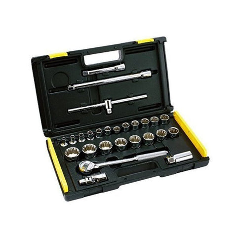 Stanley 26 Pc 1/2 Drive Metric 12 Point Socket Set – 86-477