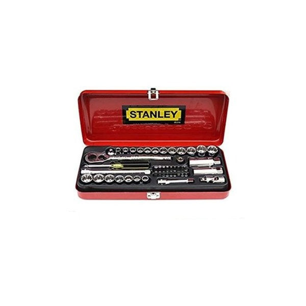 Stanley 46 Pc 1/4 & 3/8 Drive Socket & Bit Set – 89-516