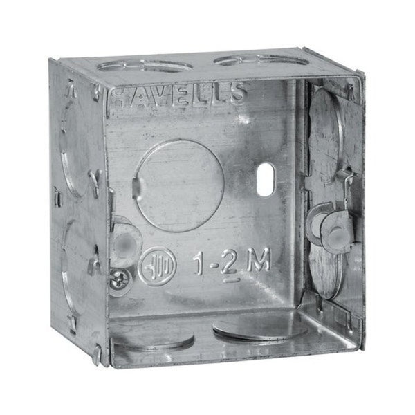 Havells Modular Flush Metal Gi Boxes for Coral, Pearlz & Oro