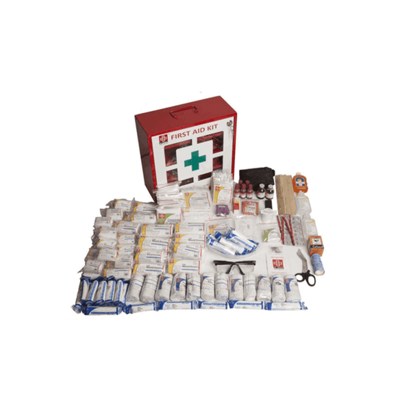 St.John's Industrial First Aid Kit Large - Metal Box Wall Counted With Acrylic Door  -244 Components SJF M1