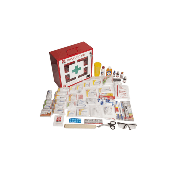 St.John's Industrial First Aid Kit Large - Metal Box Wall Counted With Acrylic Door  - 173 Components SJF M2