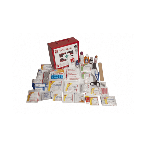 St.John's Industrial First Aid Kit Small - Metal Box Wall Counted With Acrylic Door  - 118 Components SJF M4