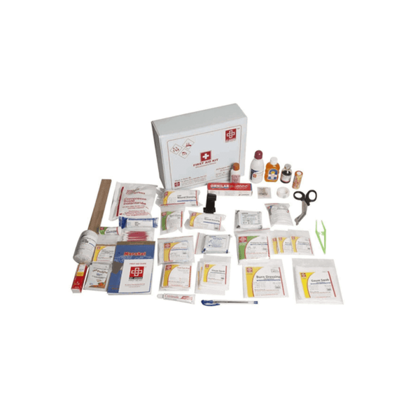 St.John's All Purpose First Aid Kit Large - Vinyl Cardboard Box - 124 Components SJF V1