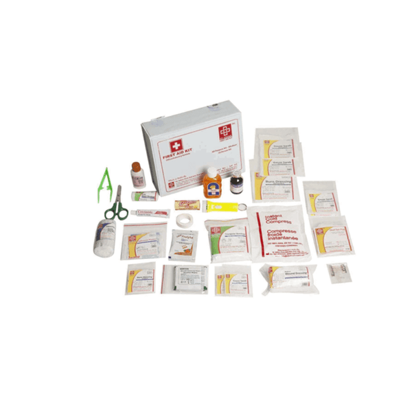 St.John's All Purpose First Aid Kit Medium - Vinyl Cardboard Box - 73 Components SJF V2