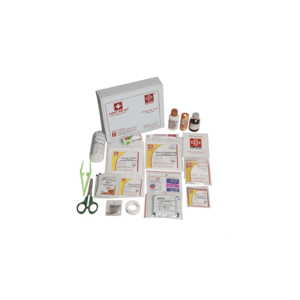 St.John's All Purpose First Aid Kit Small - Vinyl Cardboard Box - 60 Components SJF V3