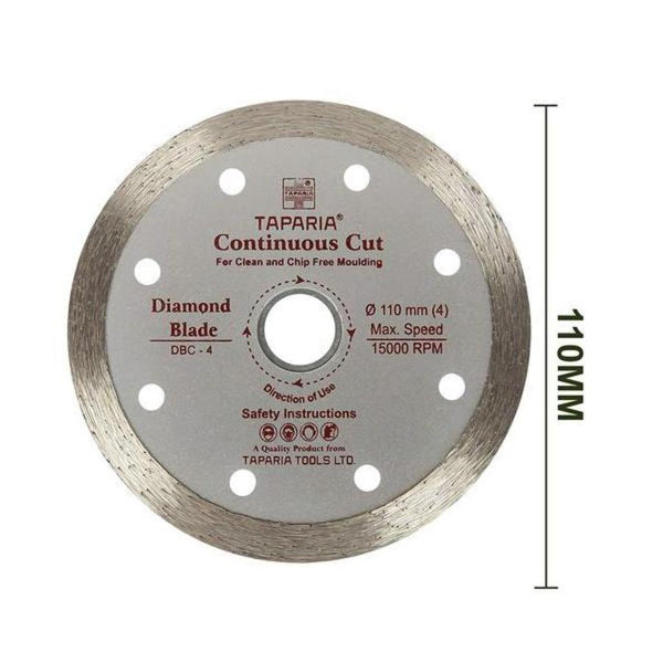 Taparia Diamond Cutting Blade Continous Cut 110 mm – DBC-4