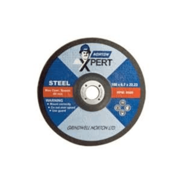 Norton Depressed Center Grinding Wheel 4 Inch Xpert AG 4 - D48H (100 x 6 x 16 )
