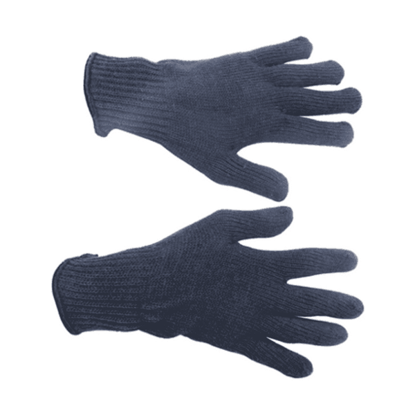 Midas 60 g Navy Blue Cotton Knitted Hand Gloves ( Pack of 25)