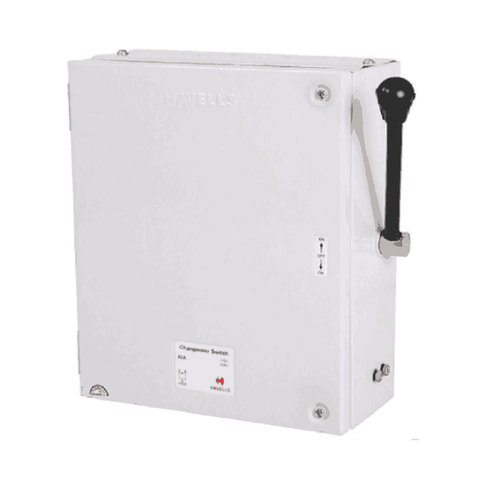 Havells Onload Changeover Switch 4 Pole 63 Amp 415 V SS Enclosure (Side Handle) – IHBFFE0063